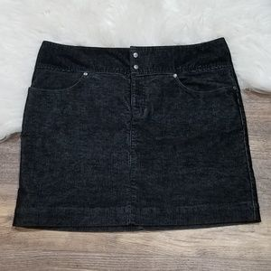 《623》Athleta Black Corduroy Skirt